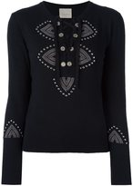Laneus lace-up jumper - women - Wool/Viscose/Angora/Polyamide - 40