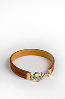 Profound Aesthetic Fused Dreams- Genuine Leather Bracelet w Anchor: Tan