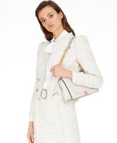 INC International Concepts Inc Fringe-Trim Tweed Jacket, Created for Macy's