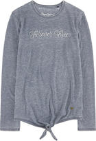 Pepe Jeans Embroidered slubbed jersey T-shirt