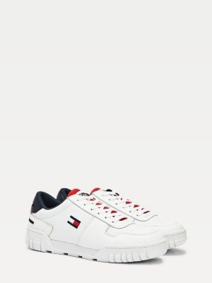 Tommy Hilfiger Retro Lace-Up Leather Trainers