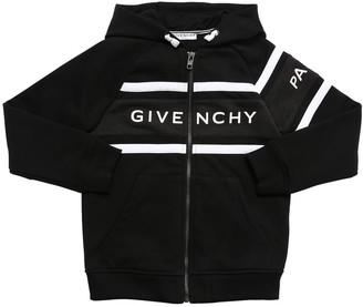 Givenchy Logo Print Cotton Sweatshirt Hoodie