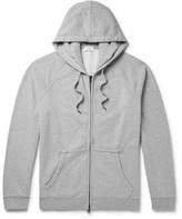 Frame Loopback Cotton-jersey Zip-up Hoodie - Gray