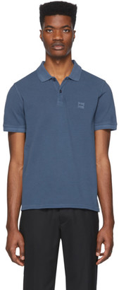 BOSS Navy Prime Slim-Fit Polo