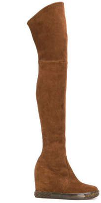 Casadei Suede Wedge Boots