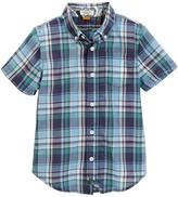 Tailor Vintage Crinkle Plaid Short Sleeve Shirt (Little Boys & Big Boys)