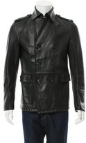 DSQUARED2 Leather Double-Breasted Jacket