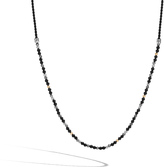 John Hardy Men's Classic Chain Bead Necklace in Sterling Silver, 18K Gold, Black Onyx