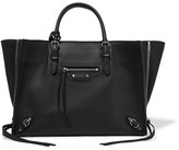 Balenciaga Papier A6 Textured-leather Tote - Black