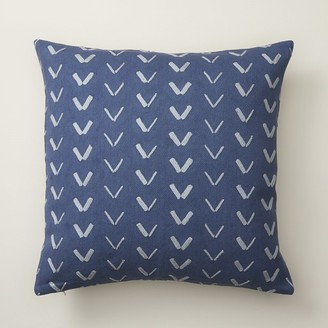 "Indigo Spur Pattern Soft Denim Pillow Cover 18"" X 18"""