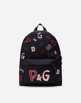 Dolce & Gabbana Nylon Backpack With Print