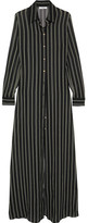 Lanvin Striped Silk-chiffon Tunic - Black