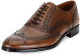 Bally Bruck Wing-Tip Leather Oxford Shoe, Brown
