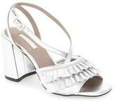 Topshop Women's 'Rosha' Frill Toe Sandal