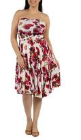 24/7 Comfort Apparel Rose Plus Dress