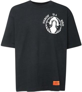 Heron Preston Over Bird Print Cotton Jersey T-Shirt