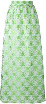 Ultràchic - frog print maxi skirt - women - Cotton/Acetate - 40