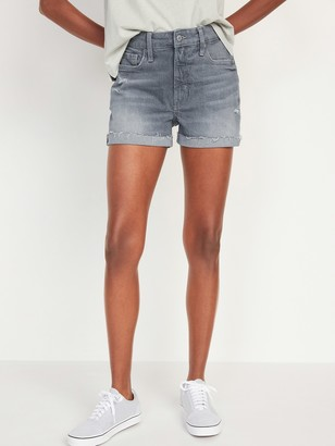 Old Navy High-Waisted O.G. Gray Cut-Off Jean Shorts for Women -- 3-inch inseam