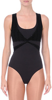 Danskin Black Wrap Leotard - Women & Petite