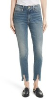 Frame Women's Raw Hem High Waist Skinny Jeans