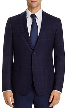 Ermenegildo Zegna Plaid Slim Fit Sport Coat