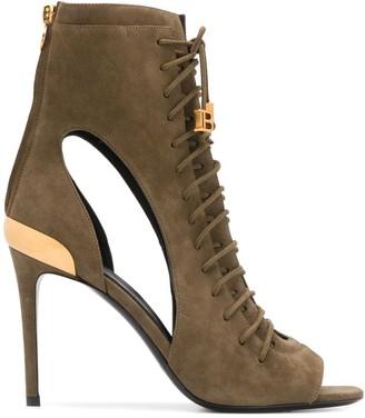 Balmain Lace-Up Sandals