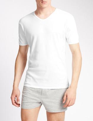 Marks and Spencer 3 Pack Pure Cotton V-Neck T-Shirt Vests