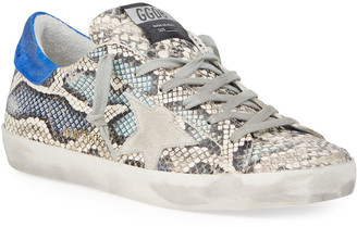 Golden Goose Superstar Multicolor Python-Print Sneakers