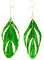 Aurelie Bidermann 'Swan' feather earrings