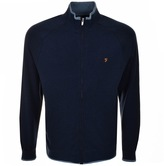 Farah Limehouse Full Zip Sweatshirt Navy
