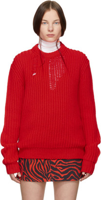Calvin Klein Red Technical Knit Sweater
