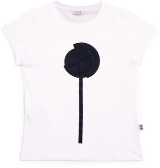 Il Gufo Flower Applique T-Shirt