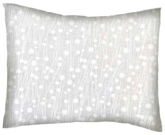 Sheetworld Twin Pillow Case - Percale Pillow Case - White On White Floral Stems