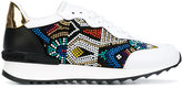 Casadei embellished sneakers - women - Calf Leather/Patent Leather/Kid Leather/rubber - 36.5