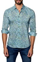 Jared Lang Men's Speckle Print Sport Shirt