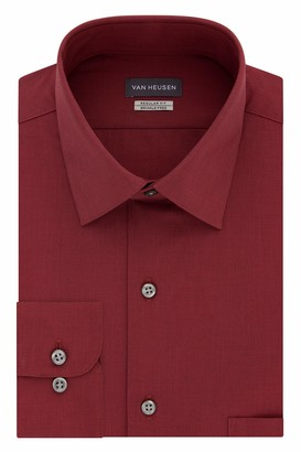 Van Heusen Van Huesen Men's Dress Shirts Regular Fit Check