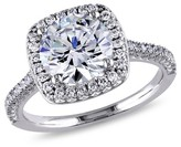 Allura 5CT. T.W. Cubic Zirconia Engagement Ring in Sterling Silver