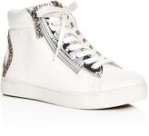 Steve Madden Girls' Glitter Peace Sign High Top Sneakers