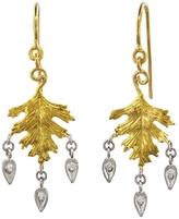 Cathy Waterman Triple Dew Drop Leaf Earrings