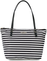 Kate Spade striped shoulder bag - women - Leather/Polyester - One Size