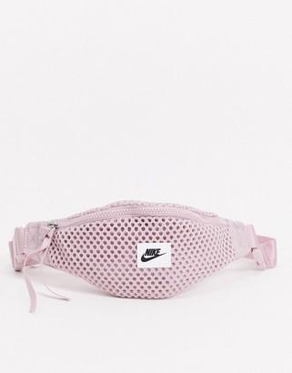 Nike pink mesh bum bag