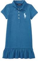 Ralph Lauren 2-6X Big Pony Stretch Polo Dress