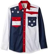 Roper Men's Pieced Stars and Stripes Patriotic