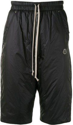 Moncler + Rick Owens Bela padded knee-length shorts