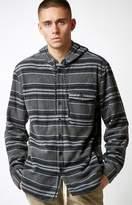 Billabong Furnace Striped Hooded Long Sleeve Button Up Shirt