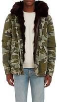 Mr & Mrs Italy Men's Camouflage Cotton & Fur Parka