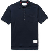 Thom Browne Ribbed Cotton-seersucker Polo Shirt