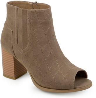 Journee Collection Henley Women's Peep Toe Boots
