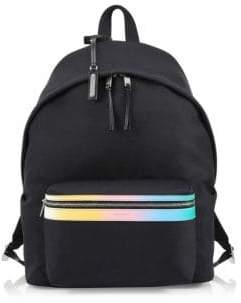 Saint Laurent Color Stripe Canvas Backpack
