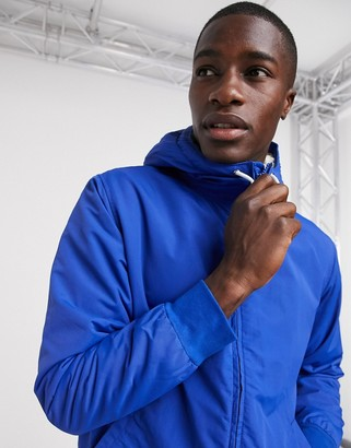 Levi's hooded sherpa bomber jacket in blue